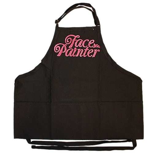 Face Painter Apron - Black with Hot Pink Letters - Jest Paint Store