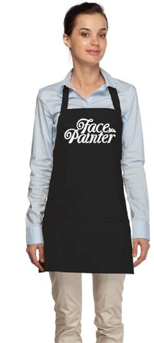 Face Painter Apron - Black with Silver Letters - Jest Paint Store