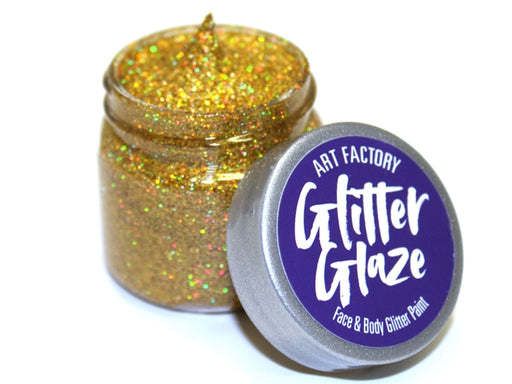 Art Factory | Glitter Glaze Face & Body Glitter Paint - Gold (1 fl oz) - Jest Paint Store