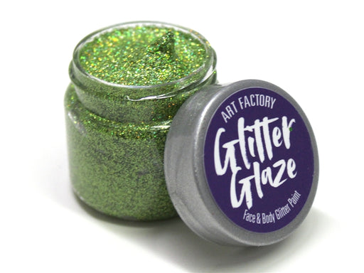 Art Factory | Glitter Glaze Face & Body Glitter Paint - Green (1 fl oz) - Jest Paint Store