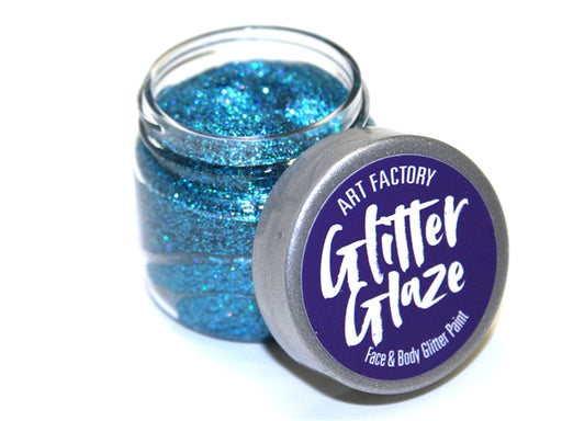 Art Factory | Glitter Glaze Face & Body Glitter Paint - Blue (1 fl oz) - Jest Paint Store