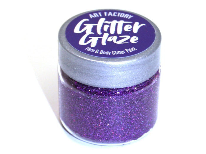Art Factory | Glitter Glaze Face & Body Glitter Paint - Purple (1 fl oz) - Jest Paint Store