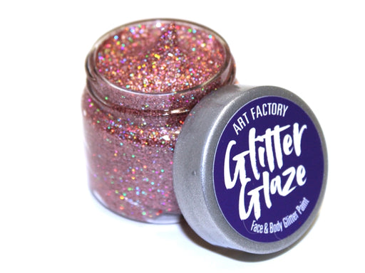 Art Factory | Glitter Glaze Face & Body Glitter Paint - Rose Gold (Pink) (1 fl oz) - Jest Paint Store