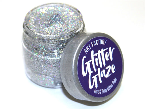 Art Factory | Glitter Glaze Face & Body Glitter Paint - Silver (1 fl oz) - Jest Paint Store