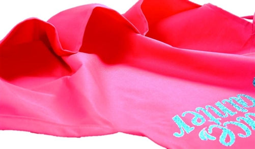 Face Painter Apron - Pink with Aqua Letters - Jest Paint Store