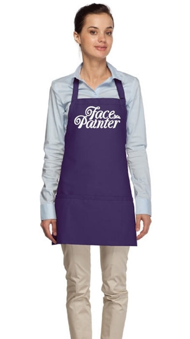Face Painter Apron - Purple with Hot Pink Letters - Jest Paint Store