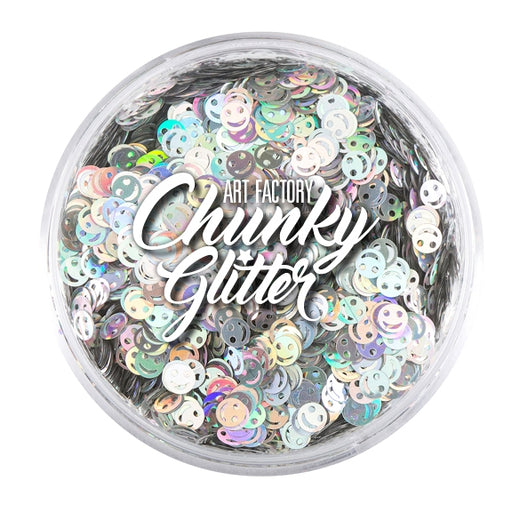 Art Factory | Loose Chunky Glitter - Emoji Face (1.5 oz jar) - Jest Paint Store