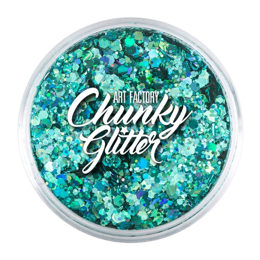 Art Factory | Loose Chunky Glitter - Blue Lagoon (1.5 oz jar) - Jest Paint Store