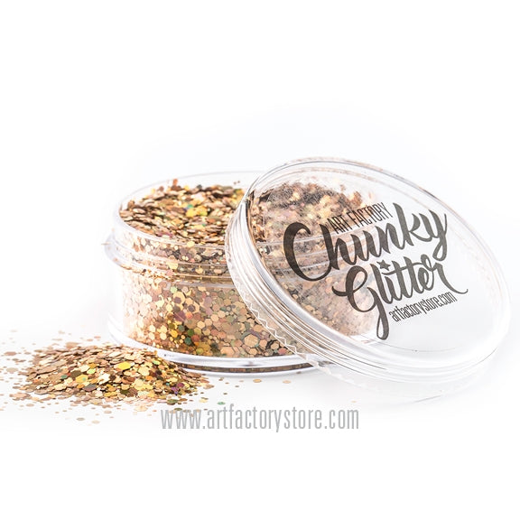 Art Factory | Loose Chunky Glitter - Gold Digger (1.5 oz jar) - Jest Paint Store