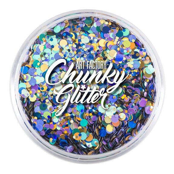 Art Factory | Loose Chunky Glitter - Peacock (1.5 oz jar) - Jest Paint Store