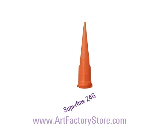 Luer-Lock Tip | Super Fine Gage 24 (Orange) - Jest Paint Store