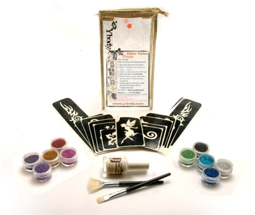 Ybody | BIG PARTY Glitter Tattoo Kit with 60 Stencils - #3 - Jest Paint Store