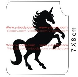 Glitter Tattoo Stencil - 21102 Unicorn Thunder #175 - Jest Paint Store