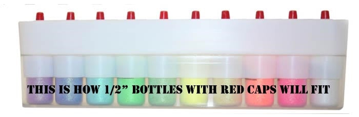 Empty Glitter Bottle Holder w/ 10 Slots (Base Fits Most 1/2 oz Bottles) - Jest Paint Store