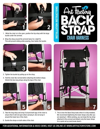 Back Strap Director Chair Harness - Jest Paint Store
