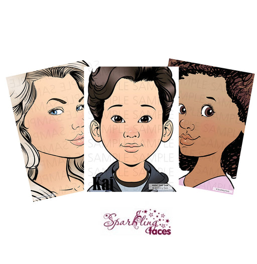 Sparkling Faces Face Painting Practice Boards | Pick 3 or More and Save