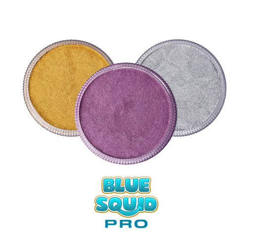 Blue Squid Face Paint Bundle | Choose 3 or More Pro Mettalic 30gr Cakes and Save - Jest Paint Store