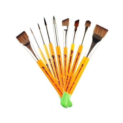 BOLT Face Painting Brushes by Jest Paint - Set of 9 FIRM Brushes - Jest Paint Store