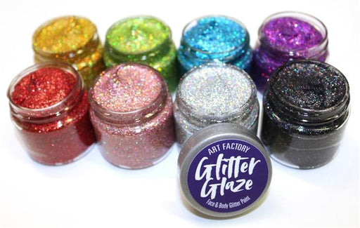 Art Factory | Glitter Glaze Face & Body Glitter Paint - Set of 8 - Jest Paint Store