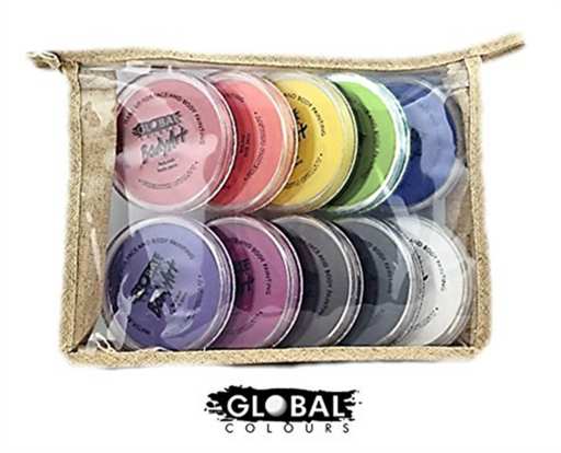Global Colours Face Paint Kit - 10 Standard Colors - Jest Paint Store