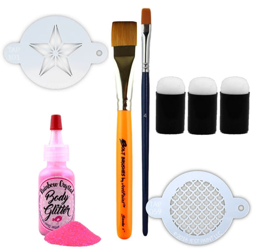 Optional Face Painting Tools | Custom Build Kit for the IntFPS Basic Face Painting Course - Jest Paint Store