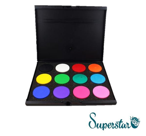 Superstar Face Paint Pro Palette  | 12 Colors (Matte and Shimmer) - Jest Paint Store