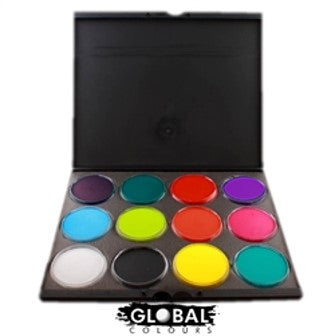 Global Face Paint Pro Palette - 12 Standard Colors