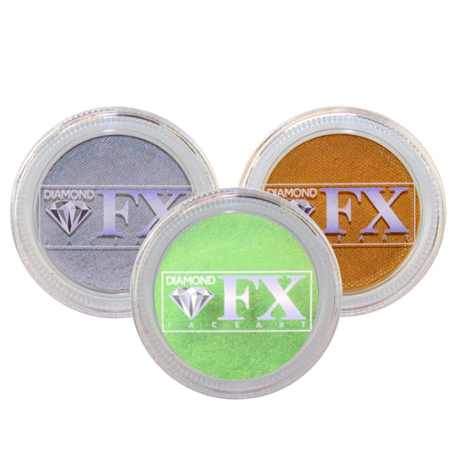Diamond FX Face Paint Bundle | Choose 3 or More Metallic 30gr Cakes and Save - Jest Paint Store