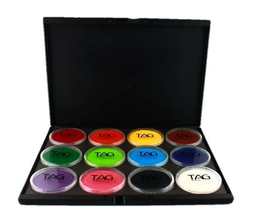 TAG Face Paint Pro Palette - 12 Regular Colors Jest Paint Store
