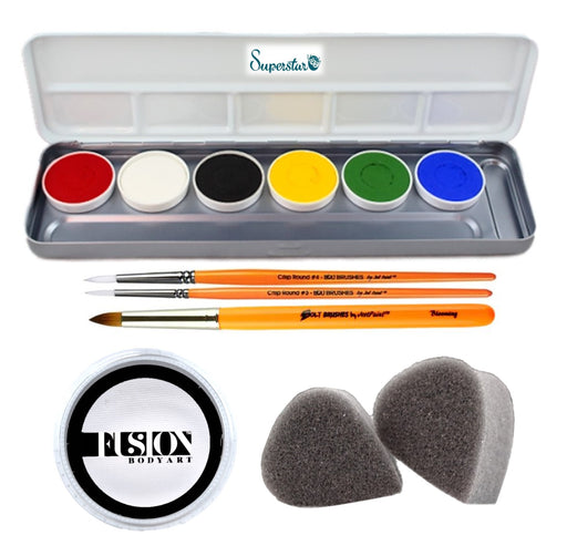 International Face Painting School |  Basic Mini Face Painting Kit - Jest Paint Store