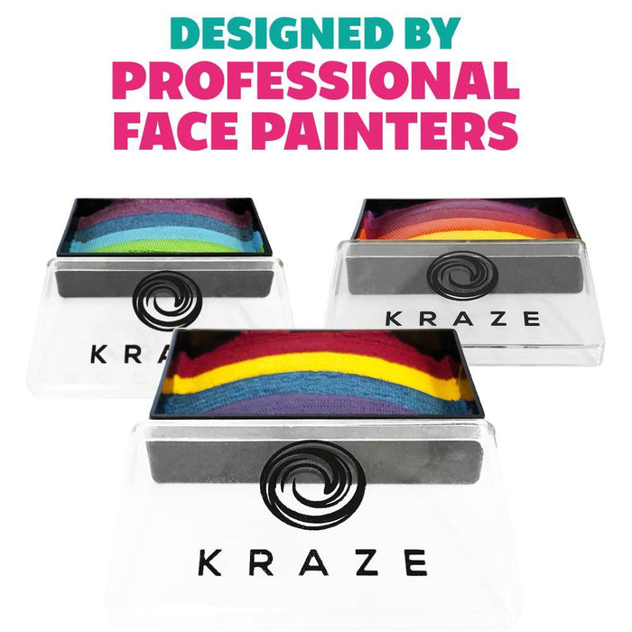 Kraze FX Face and Body Paints | Domed 1 Stroke Cake - Twinkle 25gr Rainbow Cake 1