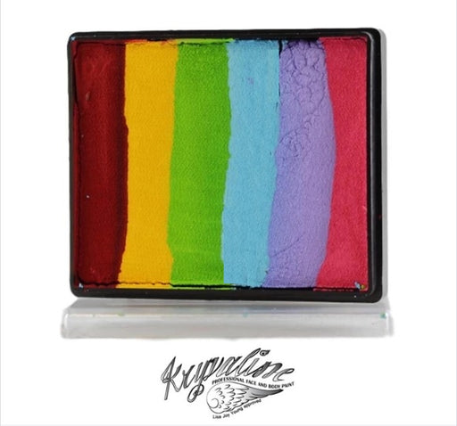 Kryvaline Face Paint Split Cake (Regular Line) - Fairy Rainbow 50gr