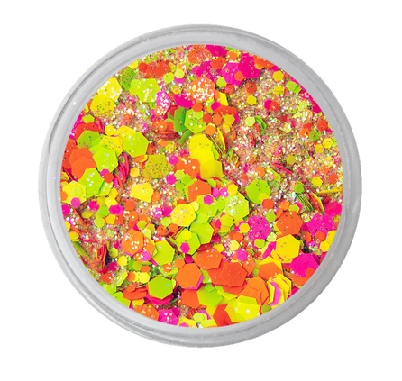 VIVID Glitter | Loose Chunky Hair and Body Glitter | Lava Pool (7.5gr) cosmetic grade