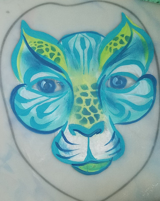 TAP 016 Face Painting Stencil - Organic Scales - Jest Paint Store