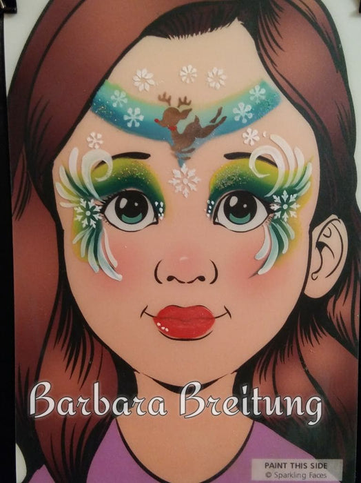 Sparkling Faces | Face Painting Practice Board - Angelina
