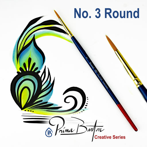 Prima Barton | Creative Series Face Painting Brush - Round #3 - Jest Paint Store