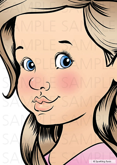 Sparkling Faces | Face Painting Practice Board - NEW 3/4 Angle - Little Sophia