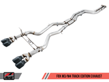 AWE Tuning BMW F8X M3/M4 Resonated Track Edition Exhaust - Chrome Silver Tips (102mm)