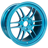 Enkei RPF1 18x9.5 5x114.3 38mm Offset 73mm Bore Emerald Blue Wheel