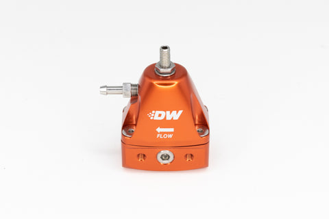 DeatschWerks DWR1000iL In-Line Adjustable Fuel Pressure Regulator - Orange