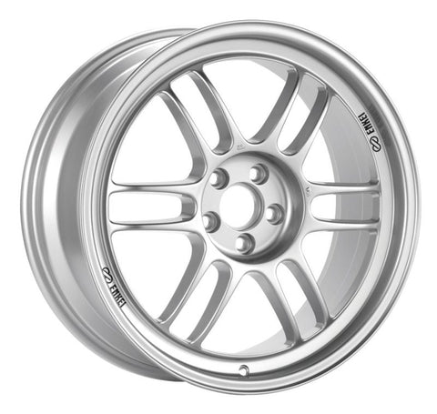 Enkei RPF1 18x7.5 5x114.3 48mm Offset 73mm Bore Silver Wheel 07-11 MS3/06-10 Civic Si