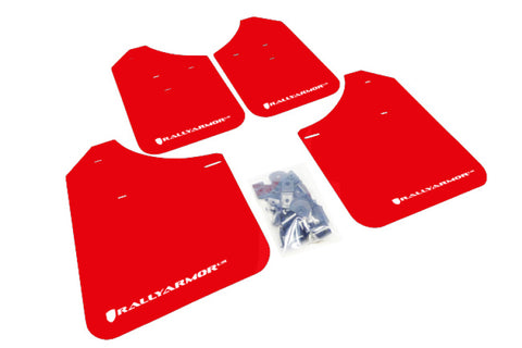 Rally Armor 02-07 Subaru WRX/STI/RS/2.5i (wagons req mod) UR Red Mud Flap w/ White Logo