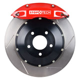 StopTech 08-09 Evo X Rear BBK w/ Red ST-40 Calipers Slotted 355x32mm Rotors Pads and SS Lines