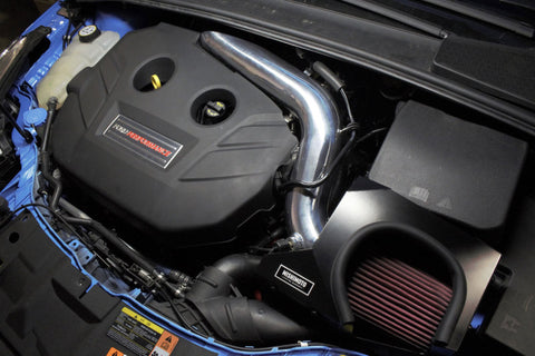 Mishimoto 2016 Ford Focus RS 2.3L Performance Air Intake Kit - Wrinkle Nitrous Blue