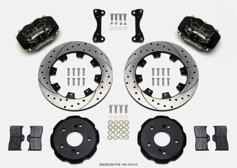 Wilwood Forged Dynalite Front Hat Kit 12.19in Drilled 02-06 Acura RSX-5 Lug