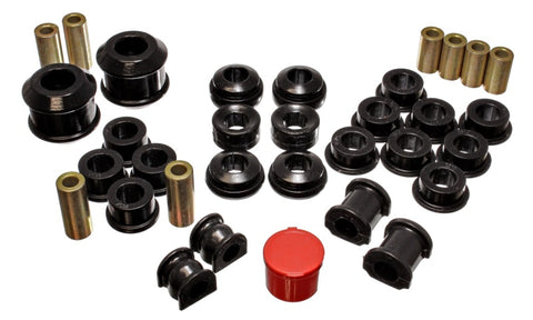 Energy Suspension 02-04 Acura RSX (includes Type S) Black Hyper-Flex Master Bushing Set