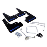 Rally Armor 15+ Subaru WRX & STi Sedan Only UR Black Mud Flap w/ Blue Logo and Altered Font