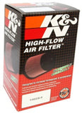 K&N Filter Universal Rubber Filter 3  Flange 4 1/2 Base inch 3 1/2 inch Top 5 3/4 inch Height
