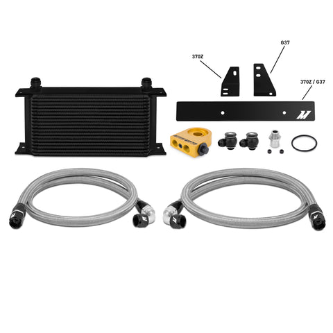 Mishimoto 09-12 Nissan 370Z / 08-12 Infiniti G37 (Coupe Only) Thermostatic Oil Cooler Kit -  Black