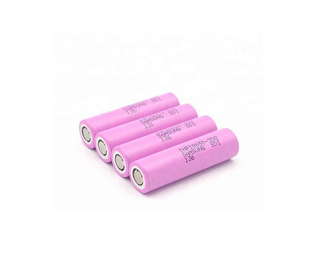4 pack 18650 3.7V 3000mAh li-ion battery cells for flashlight